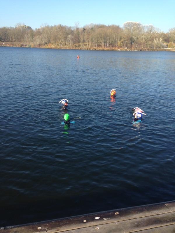 nageurs à l'eau