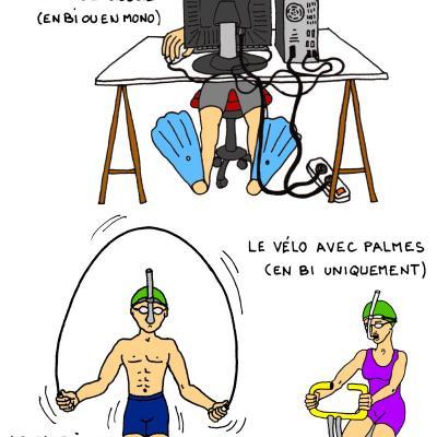 nage pendant le confinement