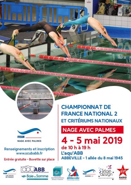France n2 et criteriums nage avec palmes abbeville reference